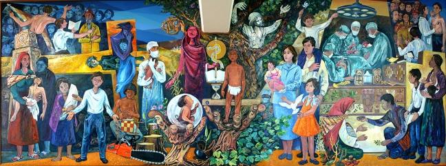 EL Cristo de la Higuera, piroxilina, Escuela de Salud, La Paz,  Bolivia, 1987