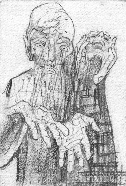 Con las manos vacias, boceto de un Quijote