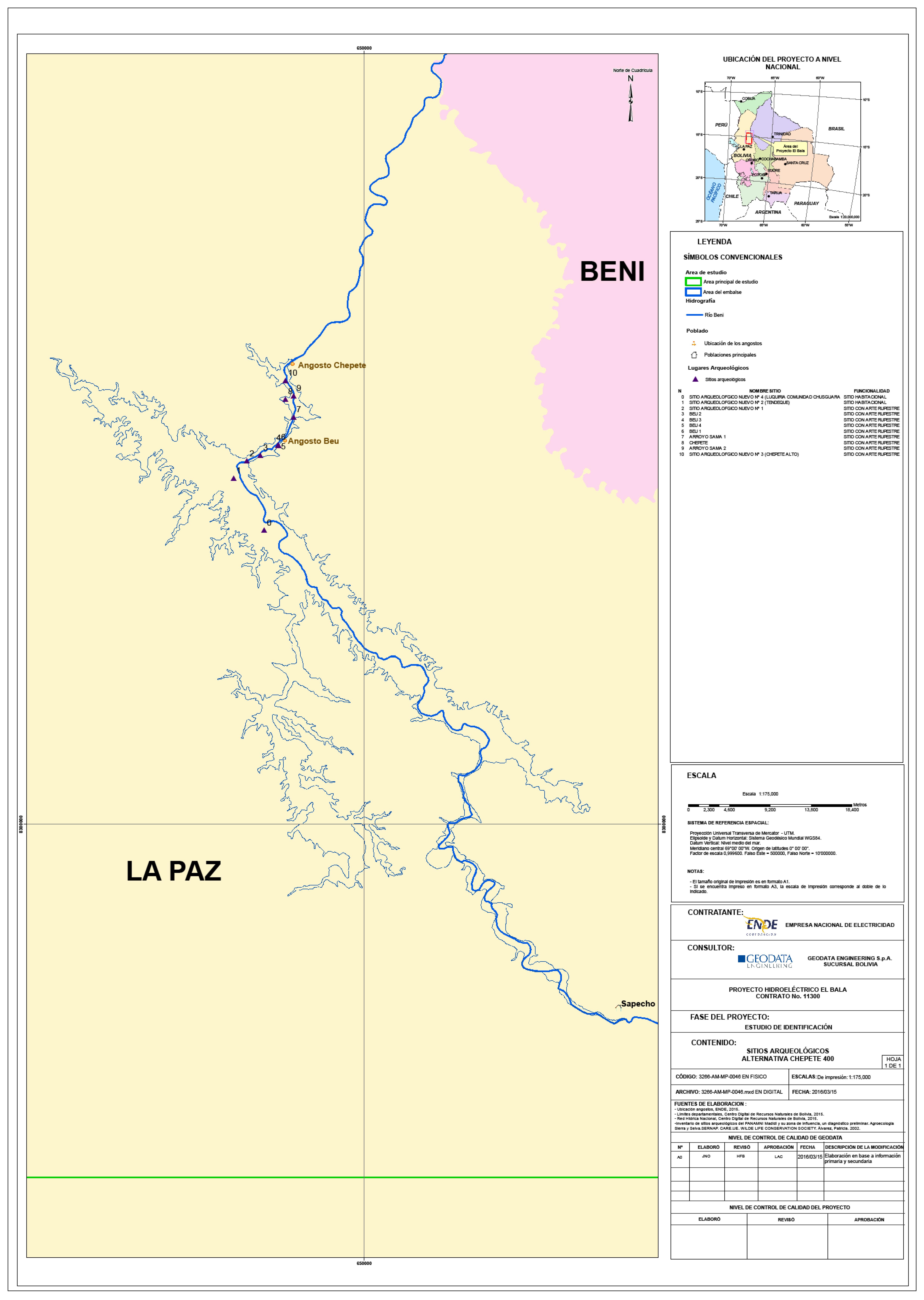 Mapa arqueologico