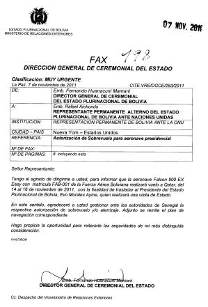 Fax huanacuni